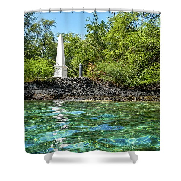 Captain Cook Monument Shower Curtain