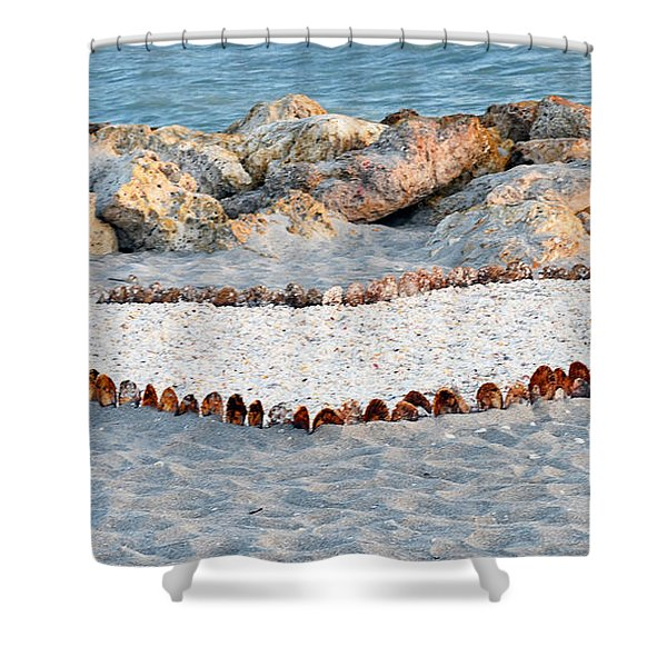Captiva Love Shower Curtain