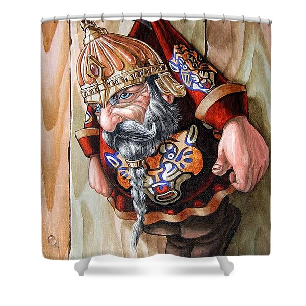 Captive Dwarf In Tiger Suit Shower Curtain