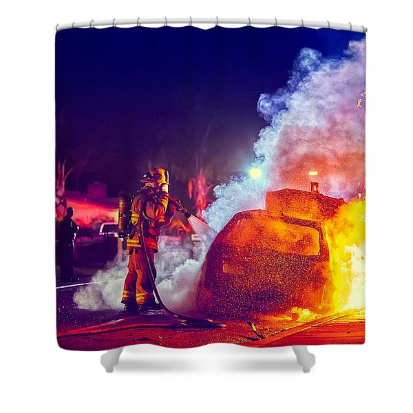 Car Arson  Shower Curtain