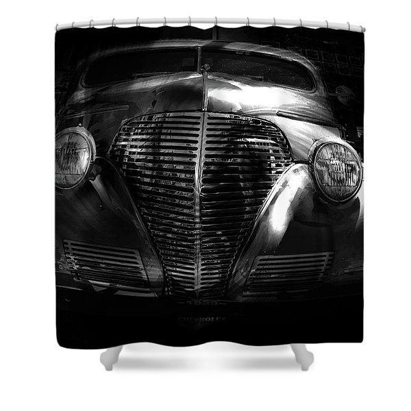Car Art 1939 In A Bubble Bw Shower Curtain