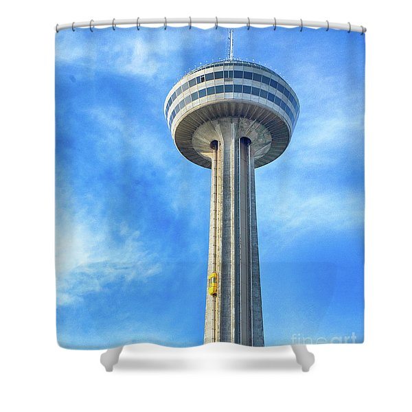 Car On Skylon Tower Shower Curtain