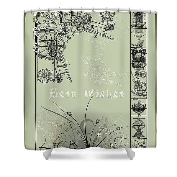 Card Best Wishes Shower Curtain