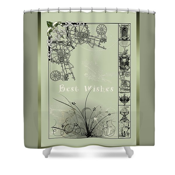 Shower Curtain featuring the photograph Card Best Wishes by Robert G Kernodle