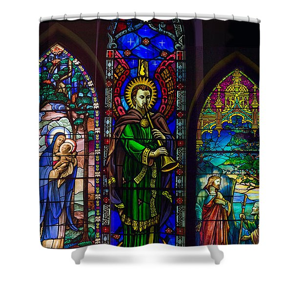 Shower Curtain featuring the photograph Card Merry Christmas by Robert G Kernodle