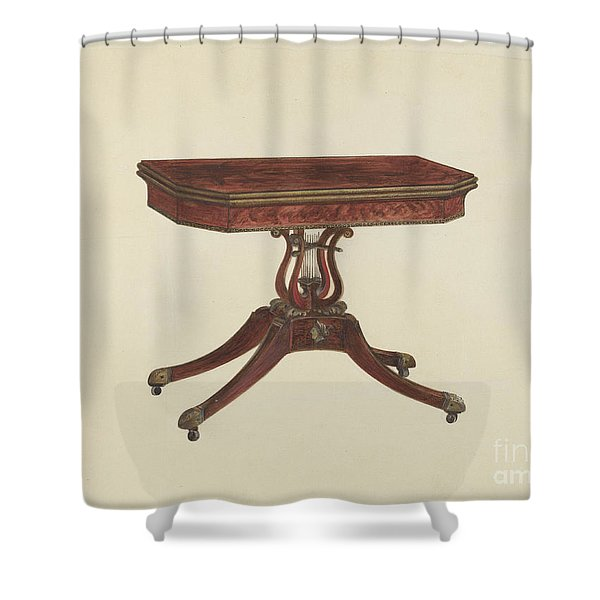 Card Table Shower Curtain