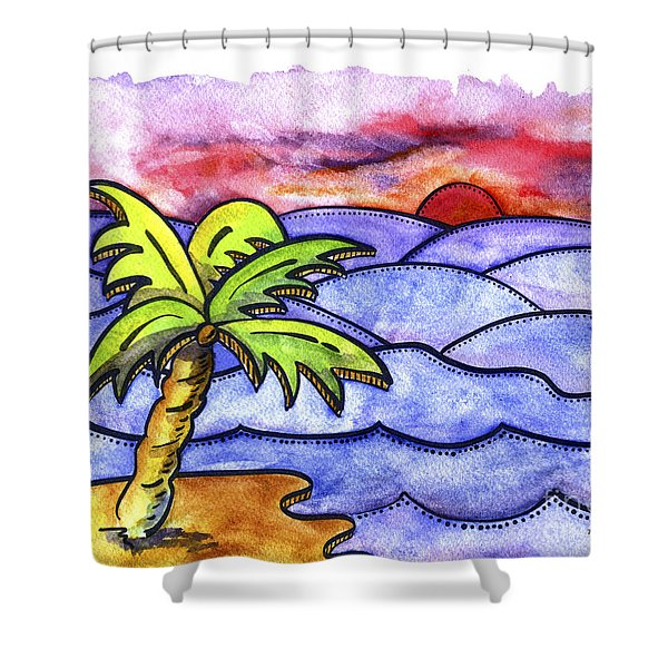 Rolling Seas Shower Curtain