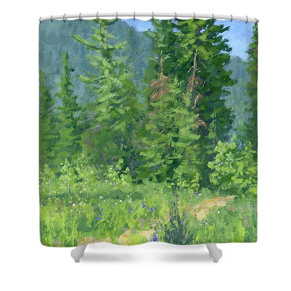 Cardiff Spring Shower Curtain