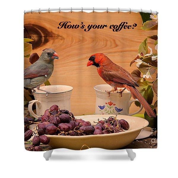 Cardinal Coffee Shower Curtain