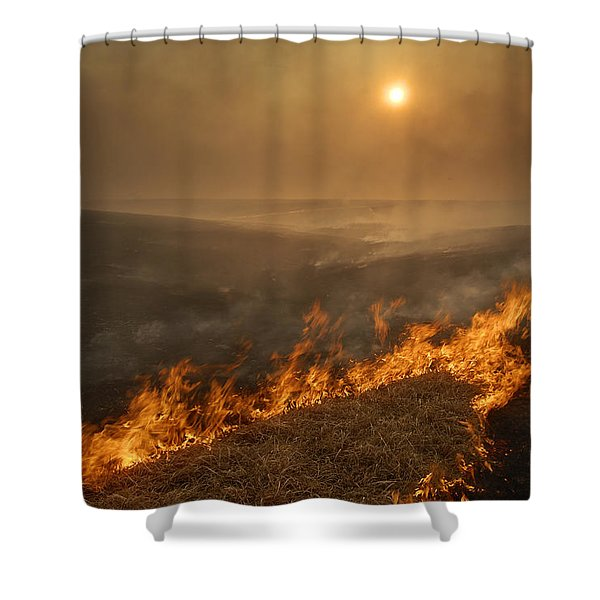 Carefully Managed Fires Sweep Shower Curtain