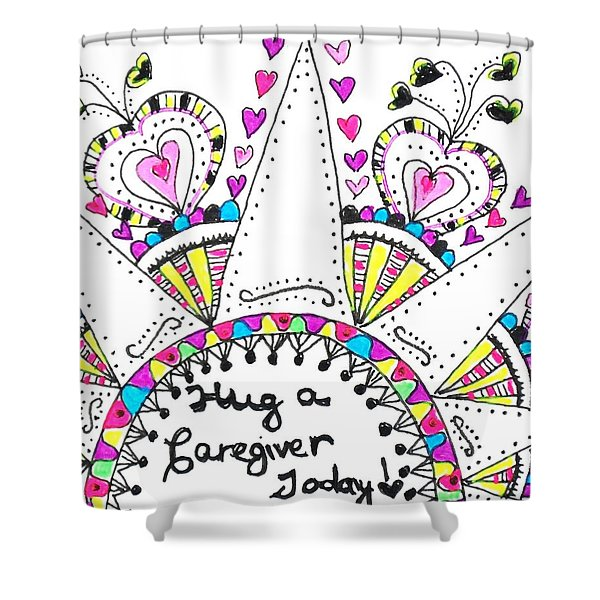 Caregiver Crown Of Hearts Shower Curtain