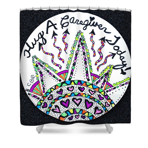 Caregiver Hugs Shower Curtain