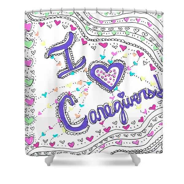 Caring Heart Shower Curtain