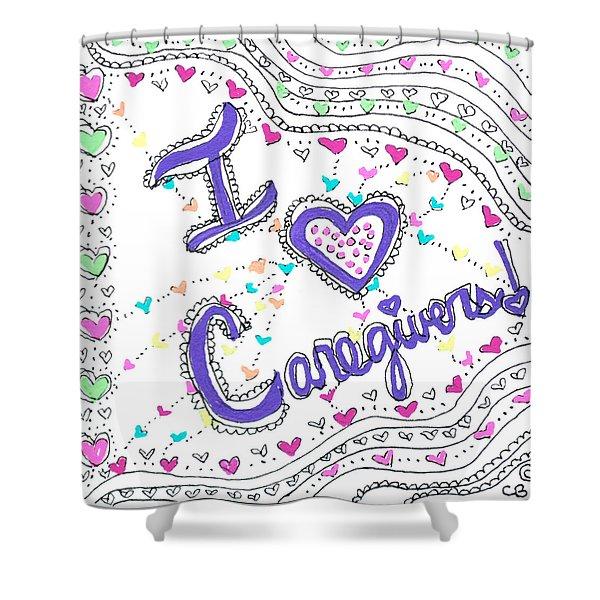 Caring Heart Shower Curtain