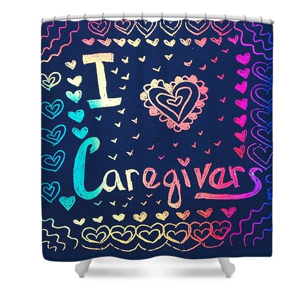 Caregiver Rainbow Shower Curtain