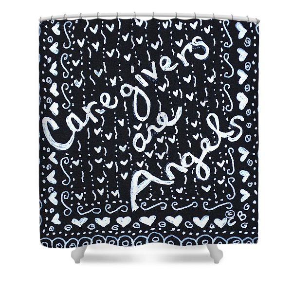 Caregivers Are Angels Shower Curtain