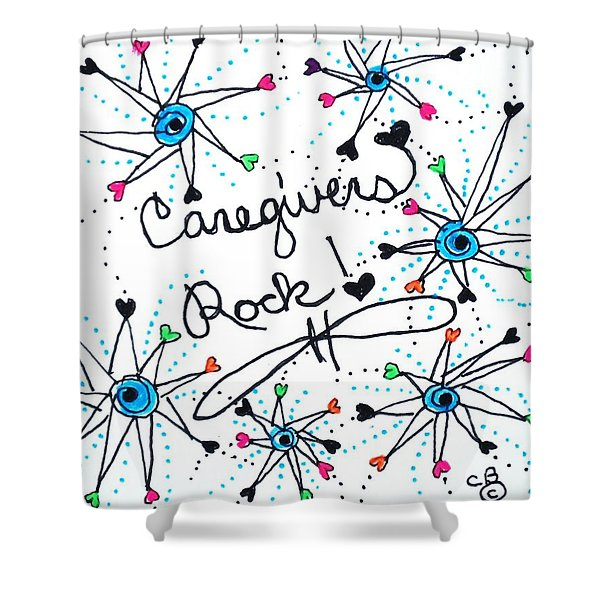Caregivers Rock Shower Curtain