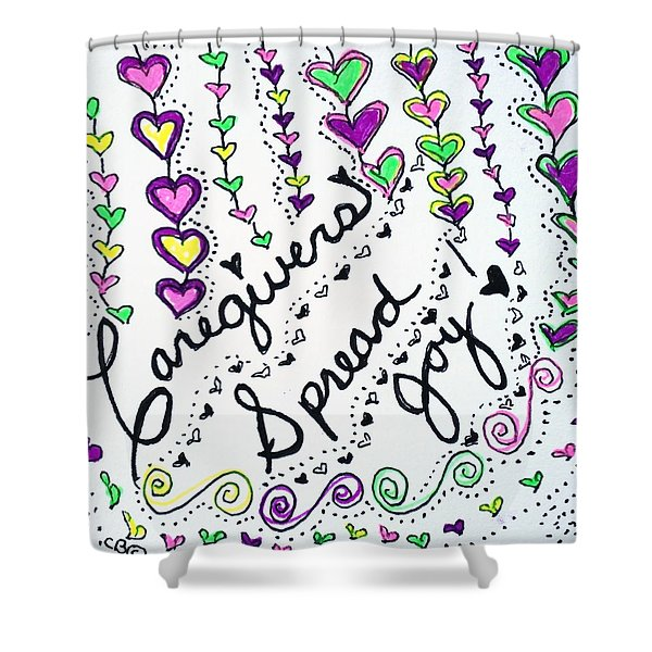 Caregivers Spread Joy Shower Curtain