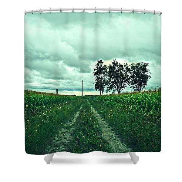 Caressing The Corn Path Shower Curtain