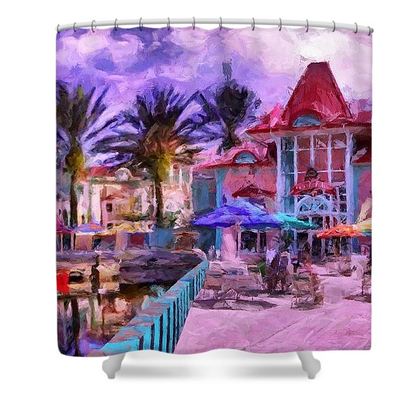 Caribbean Beach Resort Shower Curtain