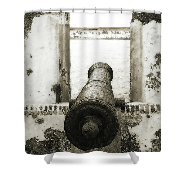 Caribbean Cannon Shower Curtain