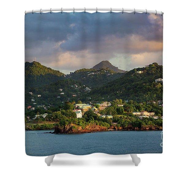 Caribbean Evening Shower Curtain
