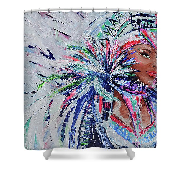 Caribbean Godess Shower Curtain