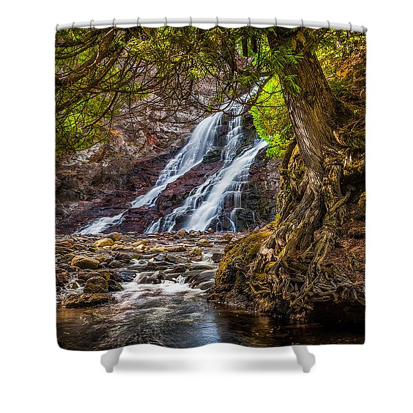 Caribou Falls In Fall Shower Curtain