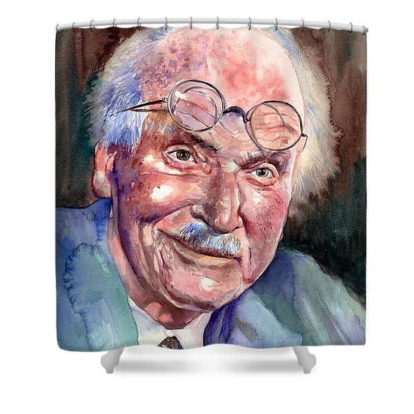 Carl Gustav Jung Portrait Shower Curtain