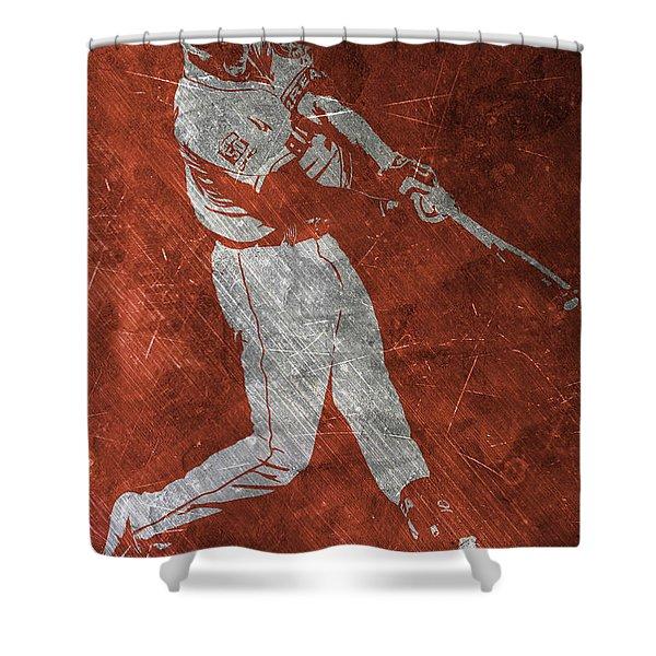 Carlos Correa Houston Astros Art Shower Curtain