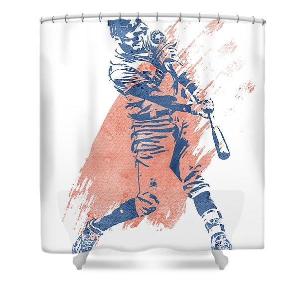 Carlos Correa Houston Astros Water Color Art 1 Shower Curtain