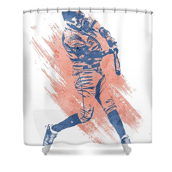 Carlos Correa Houston Astros Water Color Art 3 Shower Curtain