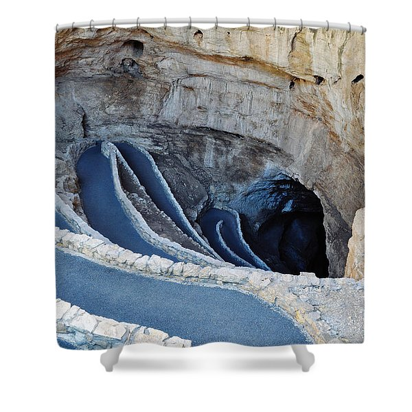 Carlsbad Caverns Natural Entrance Shower Curtain