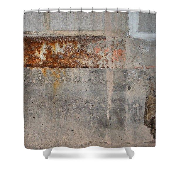 Carlton 16 Concrete Mortar And Rust Shower Curtain