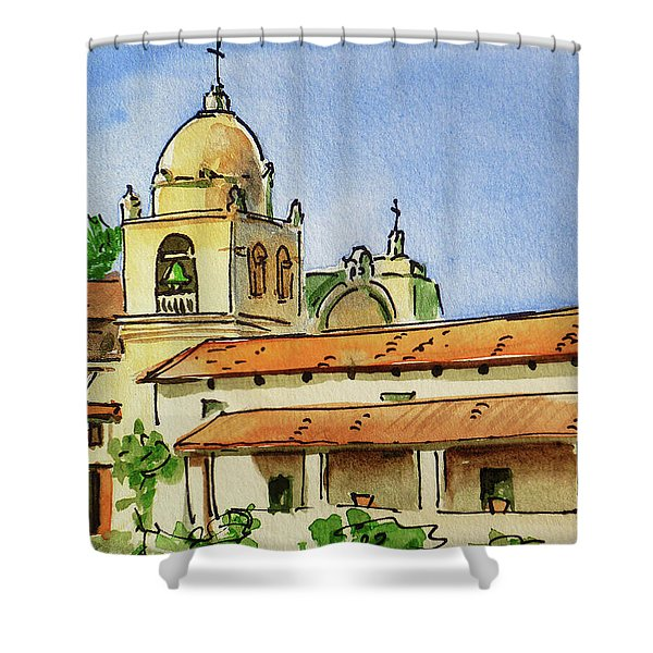 Carmel By The Sea - California Sketchbook Project  Shower Curtain