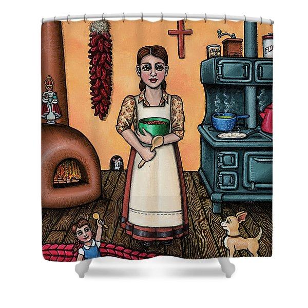 Carmelitas Kitchen Art Shower Curtain