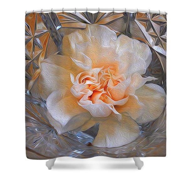 Carnation In Cut Glass 7 Shower Curtain