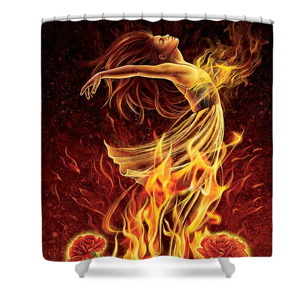 Carnation - Rebirth Shower Curtain