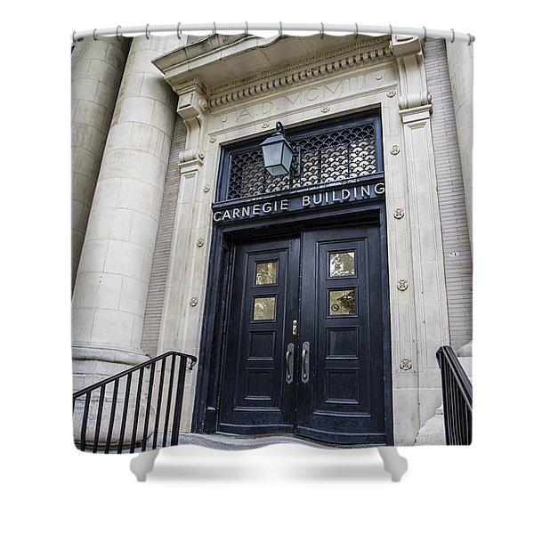 Carnegie Building Penn State  Shower Curtain