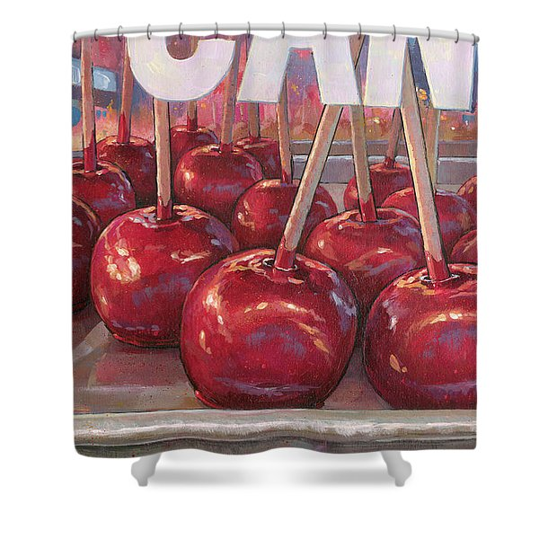 Carnival Apples Shower Curtain