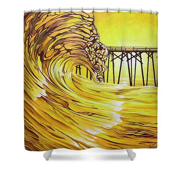 Carolina Beach North End Pier Shower Curtain