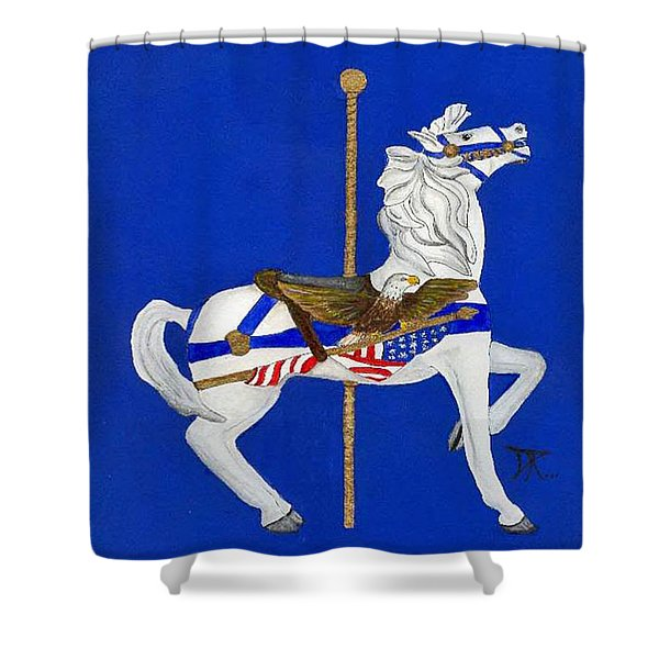Carousel Horse #1 Shower Curtain