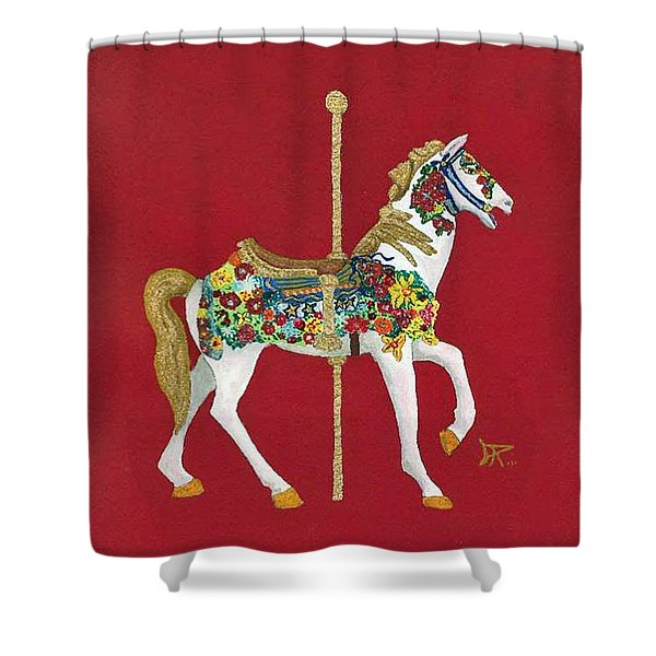Carousel Horse #2 Shower Curtain