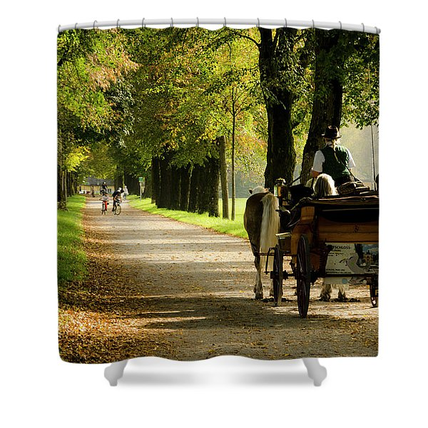Carriage Ride In Hellbrunn Shower Curtain