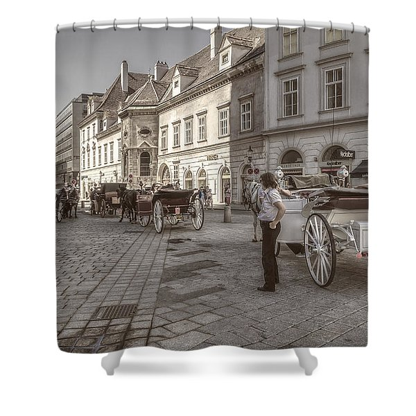 Carriages Back To Stephanplatz Shower Curtain