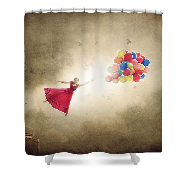 Carried Away Shower Curtain
