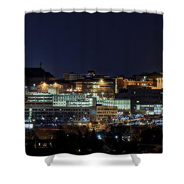 Carrier Dome And Syracuse Skyline Panoramic View Shower Curtain