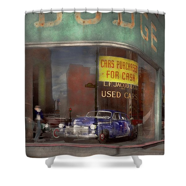 Cars - Used - Cars Purchased For Cash 1943 Shower Curtain