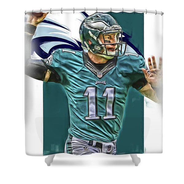 Carson Wentz Philadelphia Eagles Oil Art Shower Curtain