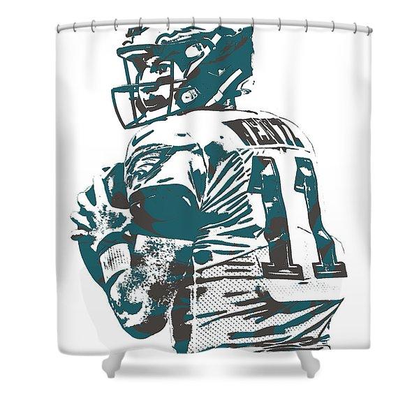 Carson Wentz Philadelphia Eagles Pixel Art 9 Shower Curtain